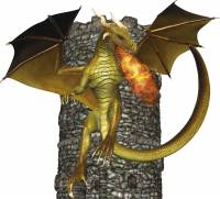 Dragon en torre